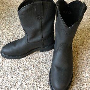 NEW - Men's Black Ariat steel toe boots 10.5 EE